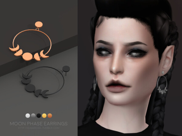 Moon Phase earrings by sugar owl from TSR