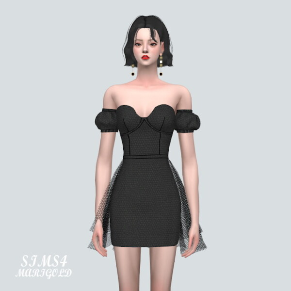 NN Off Shoulder Mini Dress from SIMS4 Marigold