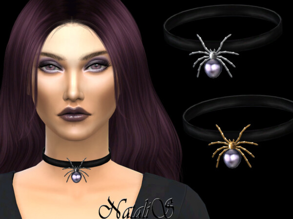 Pearl spider choker by NataliS from TSR
