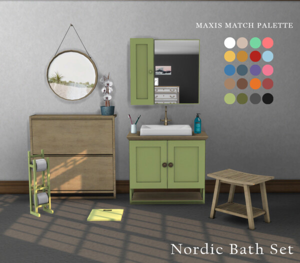 Nordic Bath Set from Leo 4 Sims