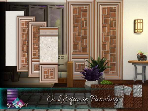Oak Square Paneling by emerald from TSR