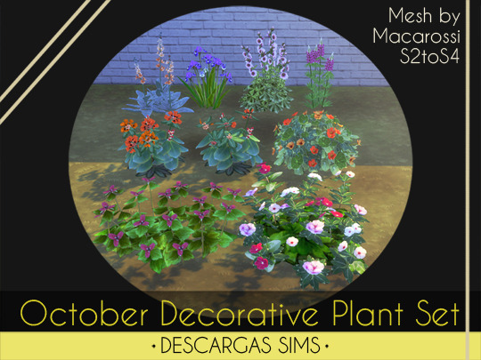 October Decorative Plant Set from Descargas Sims