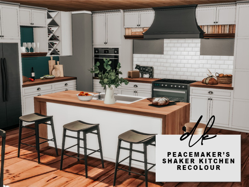 Peacemaker s Shaker Kitchen Recolours from DK Sims • Sims