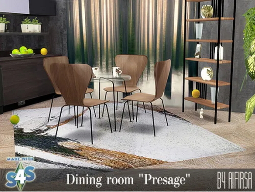 Presage Diningroom and Livingroom from Aifirsa Sims