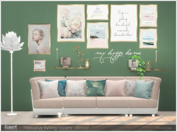 Rosalia livingroom decor from Sims by Severinka