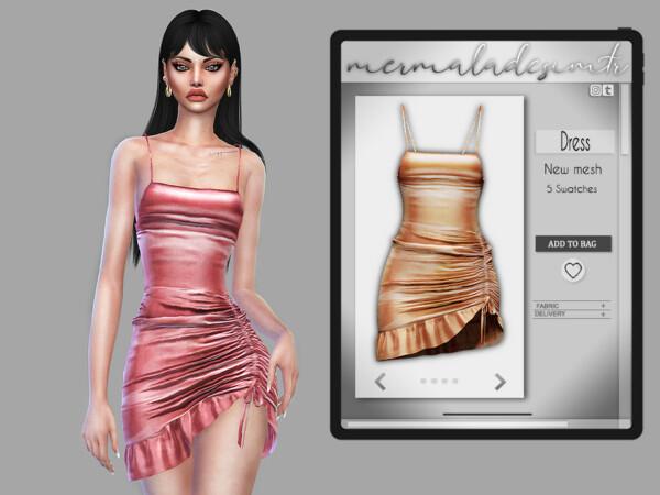Ruffled Bodycon Dress by mermaladesimtr from TSR