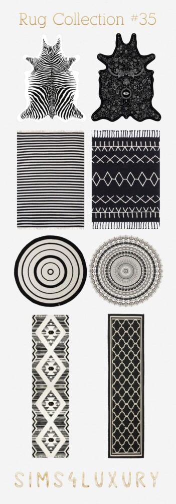 Rug Collection 35 from Sims4Luxury