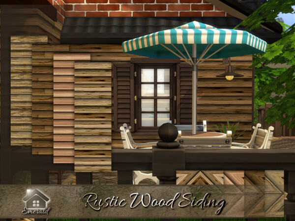 Rustic Wood Siding by emerald from TSR