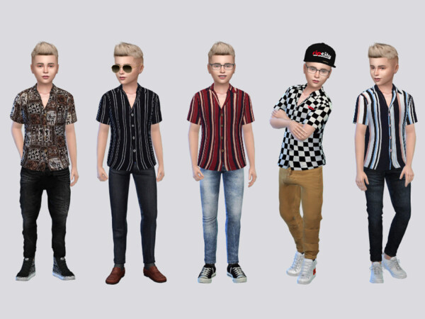 Smyth Casual Shirts Kids by McLayneSims from TSR