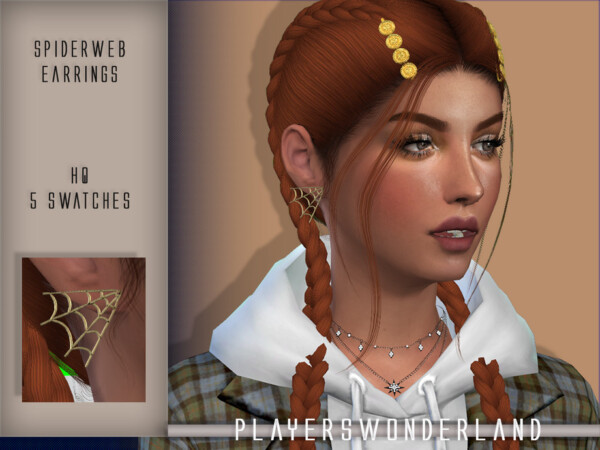 Spiderweb Earrings by PlayersWonderland from TSR
