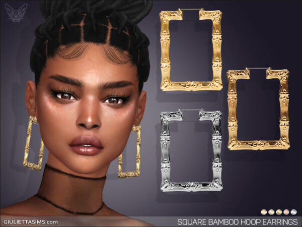 Square Bamboo Hoop Earrings from Giulietta Sims