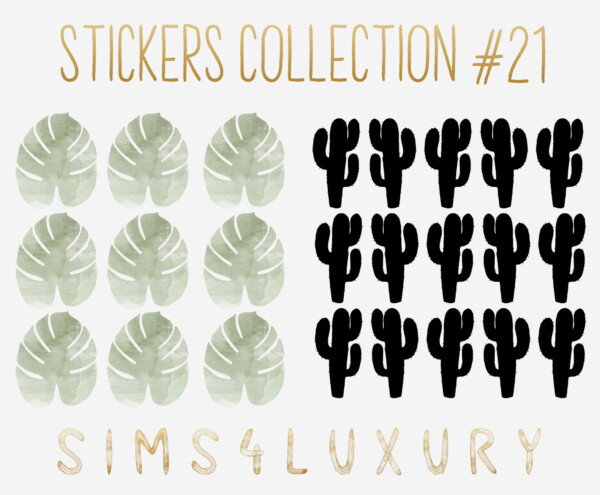 Stickers Collection 21 from Sims4Luxury