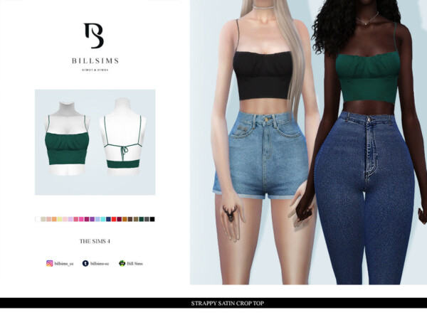 Strappy Satin Crop Top by Bill Sims from TSR
