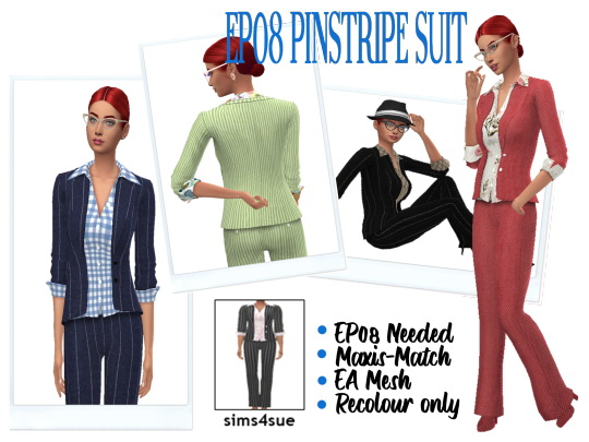 Pinstripe Suit from Sims 4 Sue
