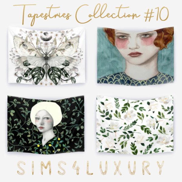 Tapestries Collection 10 from Sims4Luxury