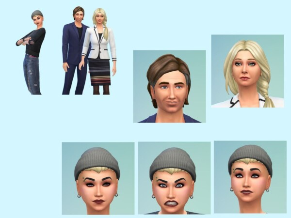 The Mohn Family from KyriaTs Sims 4 World