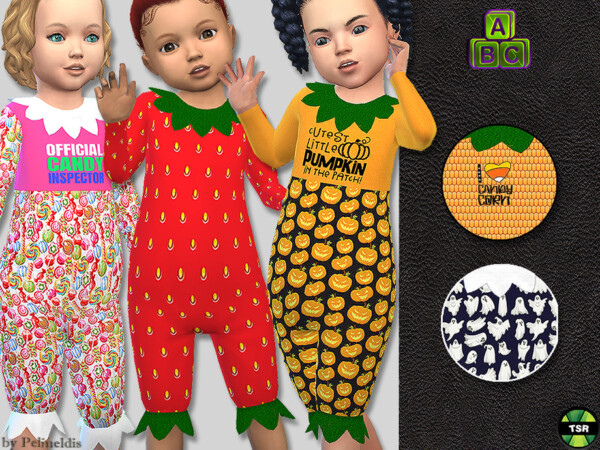 Toddler Halloween Jumpsuit by Pelineldis from TSR