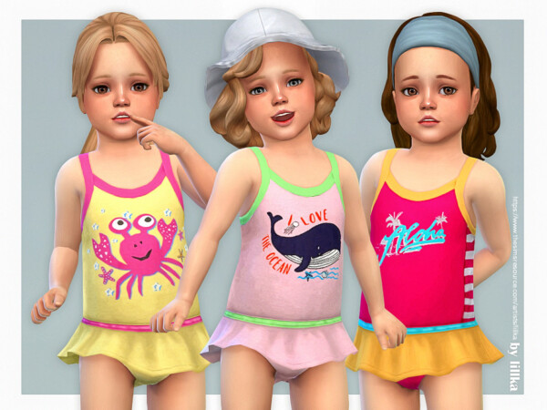 Toddler Swimsuit P11 by lillka from TSR