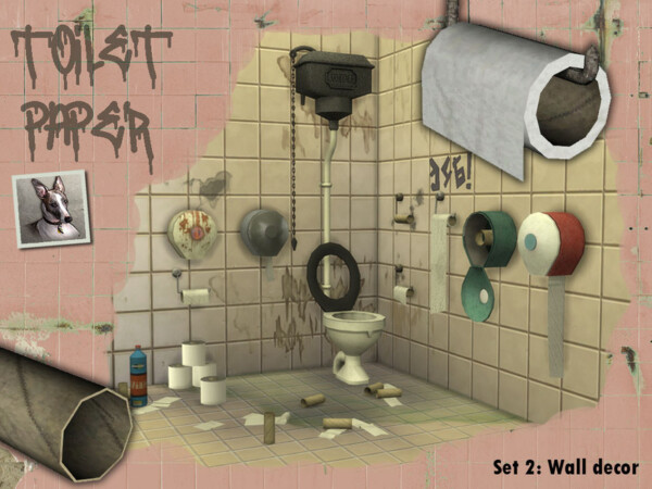 Toilet Paper   Set 2  Wall Decor by Cyclonesue from TSR