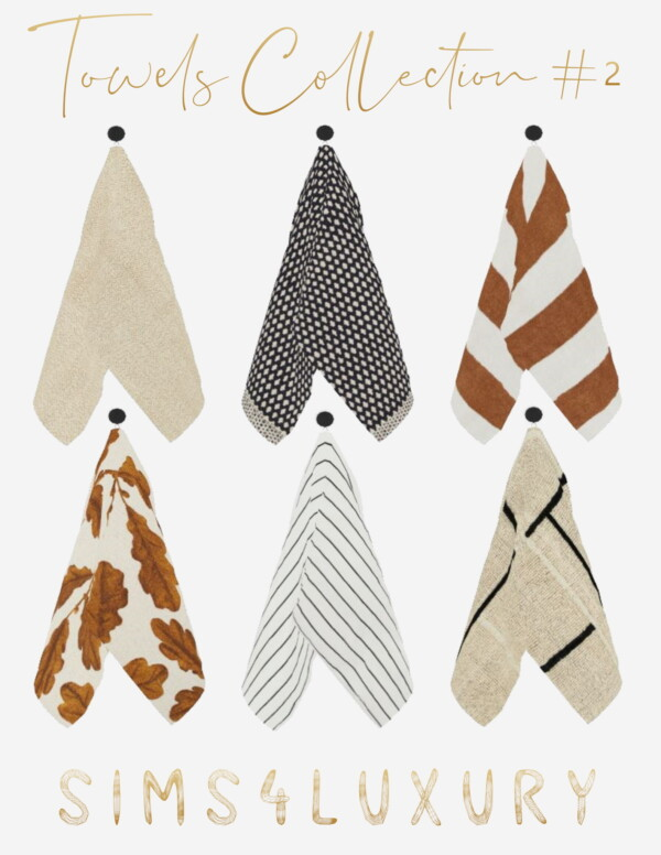 Towel Collection 2 from Sims4Luxury