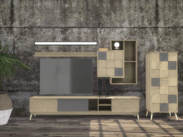 Turin Living Room TV Units by ArtVitalex from TSR