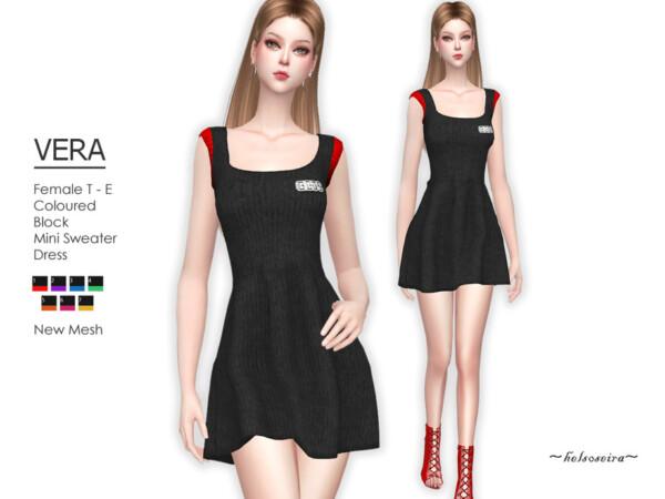 Vera Coloured Block Dress by Helsoseira from TSR