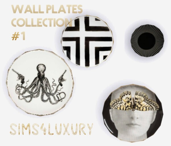 Wall Plates Collection 1 from Sims4Luxury