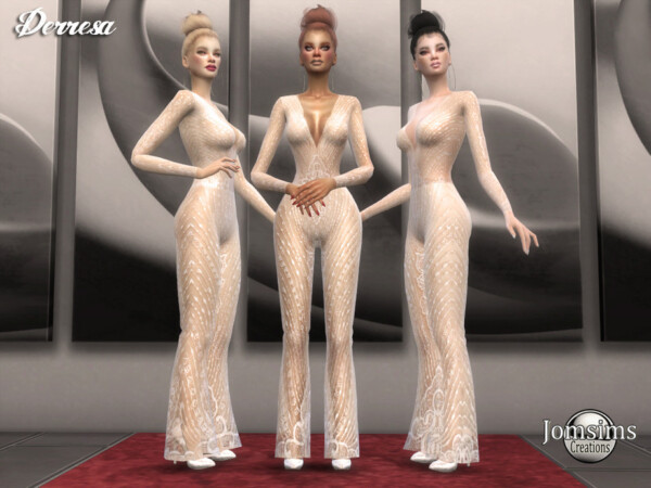 Derresa jumpsuit by jomsims from TSR