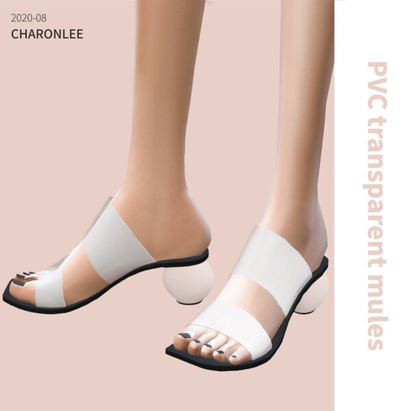 Transparent high heel mules from Charonlee