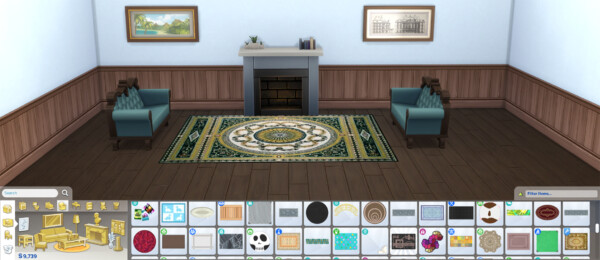Aubusson Elegant Rugs Set 4 by Wicked Old Witch from Mod The Sims
