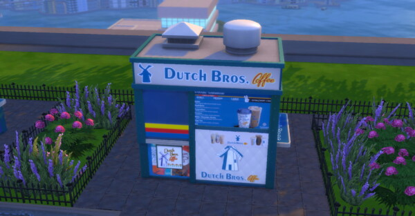 Dutch Bros Coffee Stand by ArLi1211 from Mod The Sims