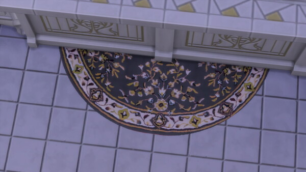 The Bisected Moon half moon Rug by Wykkyd from Mod The Sims