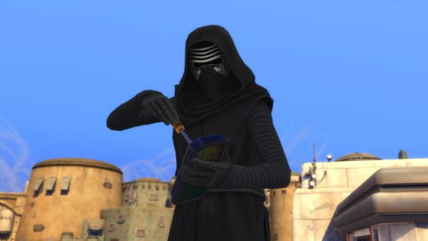 Kylo Rens Maxis Match Mask by CommodoreLezmo from Mod The Sims