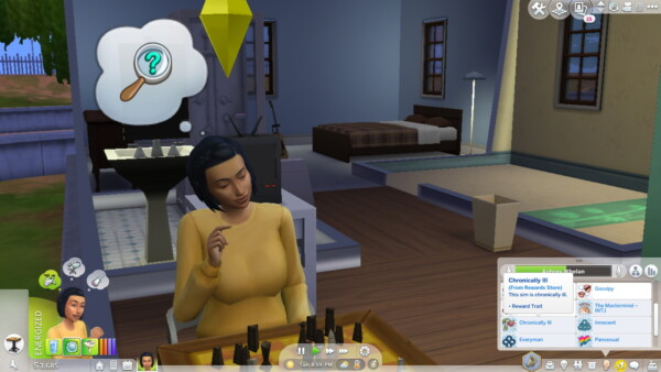 Chronically Ill Trait by jessienebulous from Mod The Sims