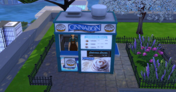 Cinnabon coffee and pastry stand by ArLi1211 from Mod The Sims