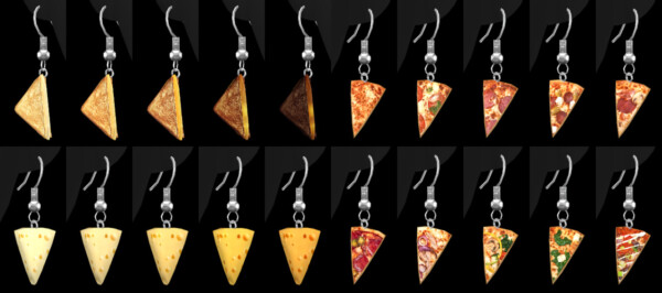 Culinaria Earrings from Praline Sims