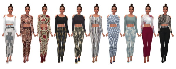 Open Soulder Crop Top from Sims 4 Sue