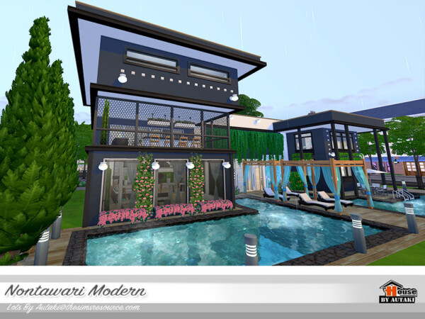 Nontawari Modern House NoCC by autaki from TSR