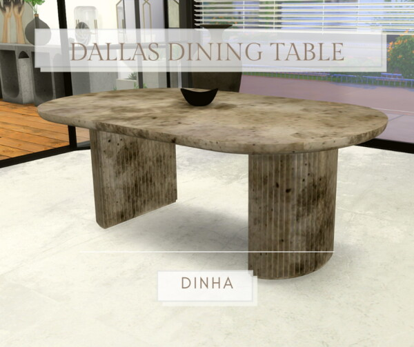 Dallas Dining Table from Dinha Gamer