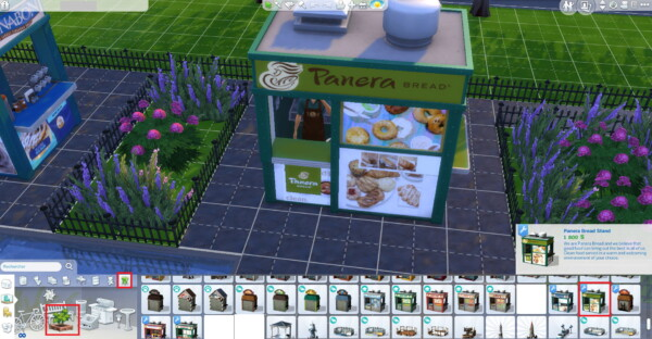 Panera Bread coffee and pastry stand by ArLi1211 from Mod The Sims