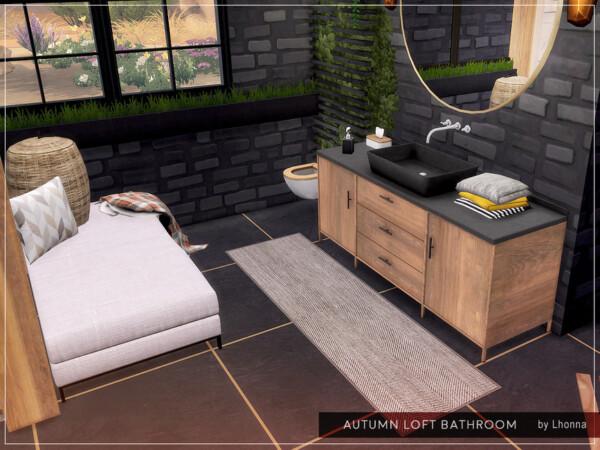 Autumn Loft Bathroom byLhonna from TSR