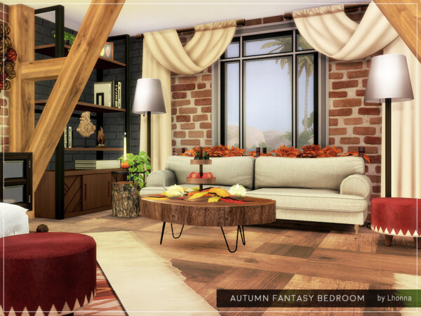 Autumn Fantasy Bedroom By Lhonna From Tsr Sims 4 Downloads