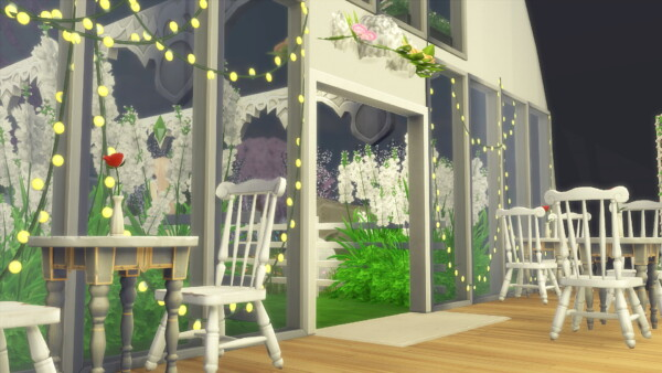Smile Cafe Garden from Nilyn Sims 4