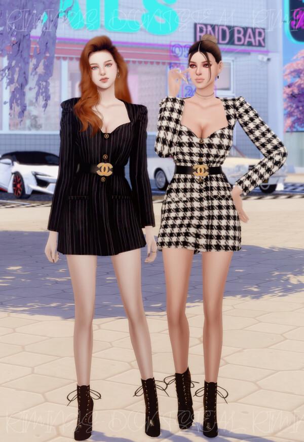Heart Neck Suit Dress from Rimings
