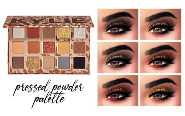 Pressed Powder Palette, Cheetah Eyebrows and Lux Lipsticks from Kenzar Sims