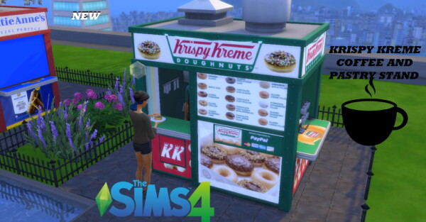 Krispy Kreme coffee and pastry stand by ArLi1211 from Mod The Sims
