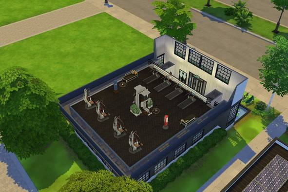 Willow Creek Sport Club by SweetSims from Luniversims