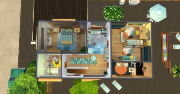 City house by  Oldbox from All4Sims