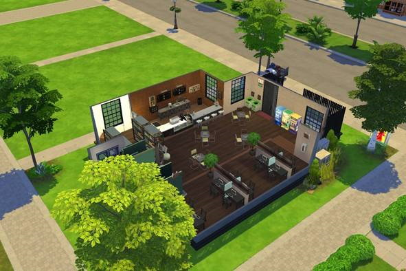 Willow Internet Cafe by SweetSims from Luniversims