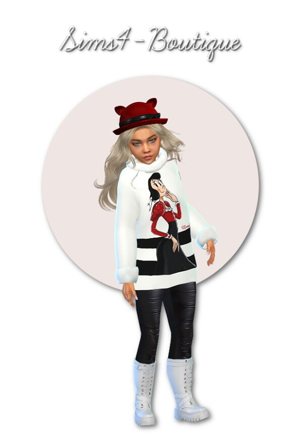 Designer Set for Child Girls from Sims4 boutique